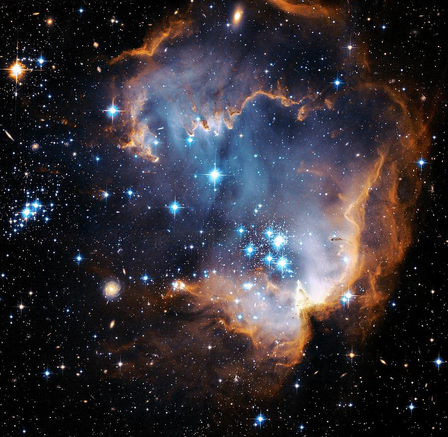 N90 Photograph - Starbirth Region Ngc 602 by Hubble Heritage Teamnasaesastsciaura