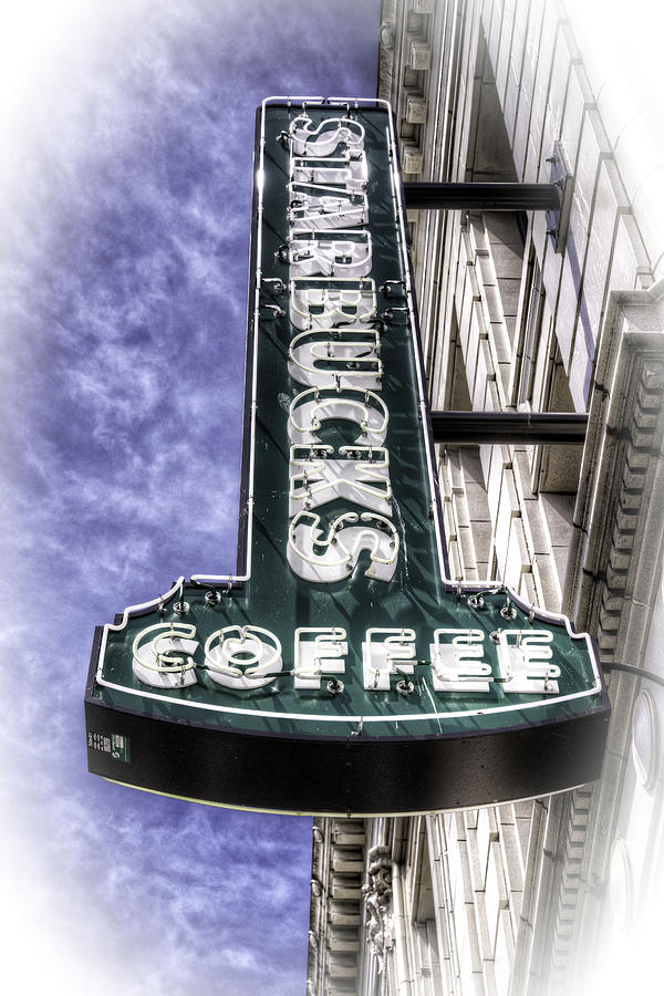 Starbucks Photograph - Starbucks - Ballard by Spencer McDonald