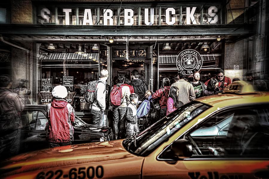 Starbucks Photograph - Starbucks To Go by Spencer McDonald