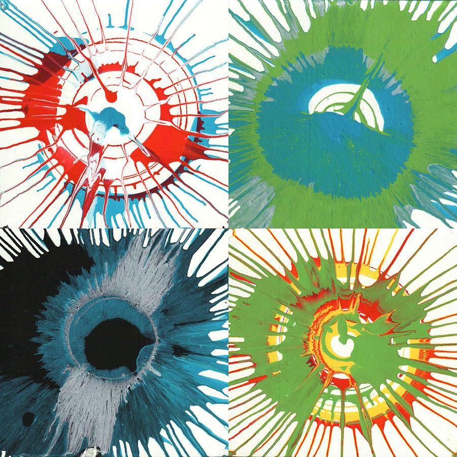 Organic Painting - Starburst Splashes by Gabe Arroyo