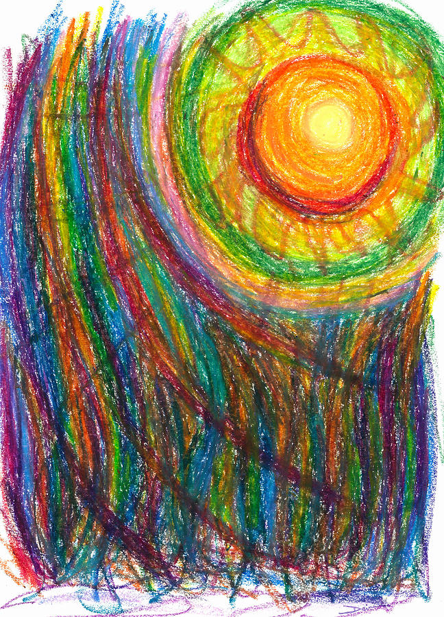 Oil Drawing - Starburst - The Nebular Dawning Of A New Myth And A New Age by Daina White
