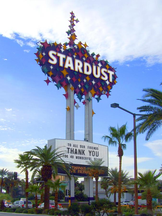 Las Vegas Photograph - Stardust Sign by Mike McGlothlen