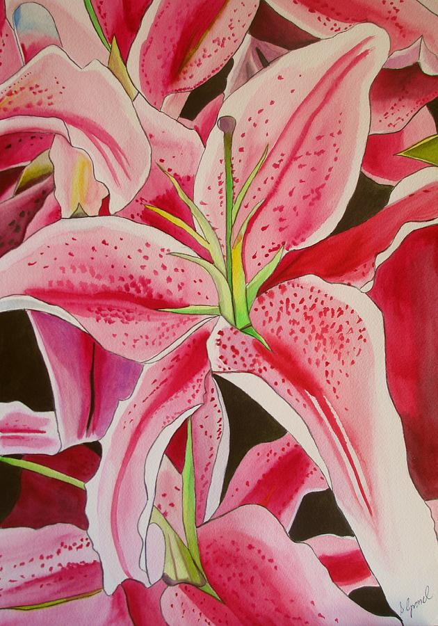 Stargazer Painting - Stargazer Lily by Sacha Grossel
