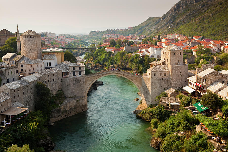 Stari Most Or Old Bridge Over Neretva Photograph by Richard Ianson