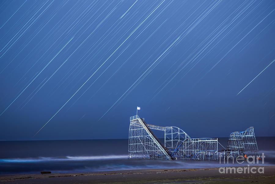 Jetstar Photograph - Starjet Under The Stars by Michael Ver Sprill