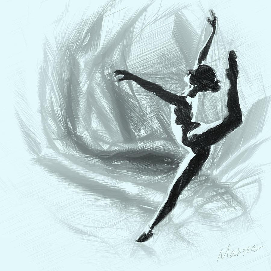 Ballet Digital Art - Starlet by Marina Likholat