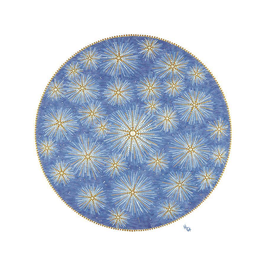 Mandala Painting - Starlit Sky by Vanda Omejc