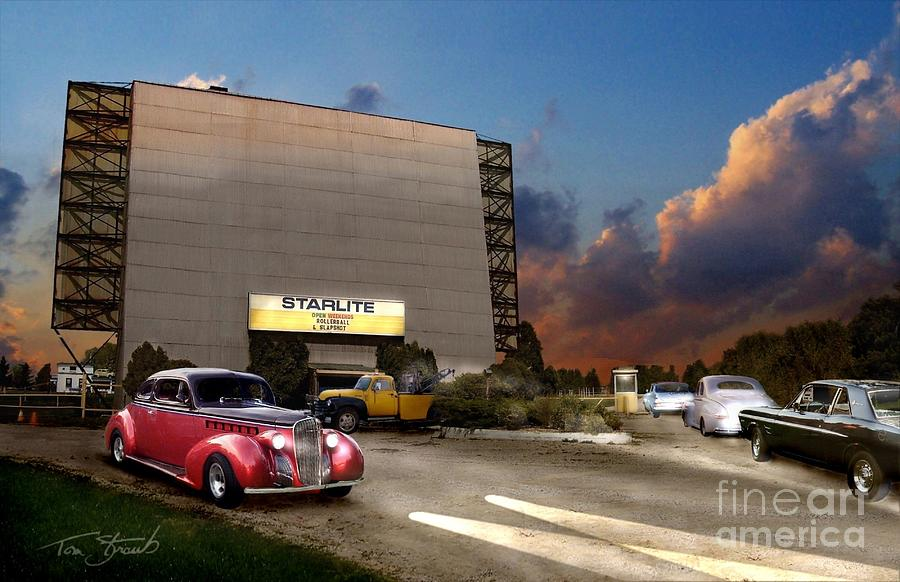 Drive In Photograph - Starlite by Tom Straub