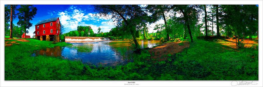 Historic Photograph - Starrs Mill 360 Panorama by Lar Matre
