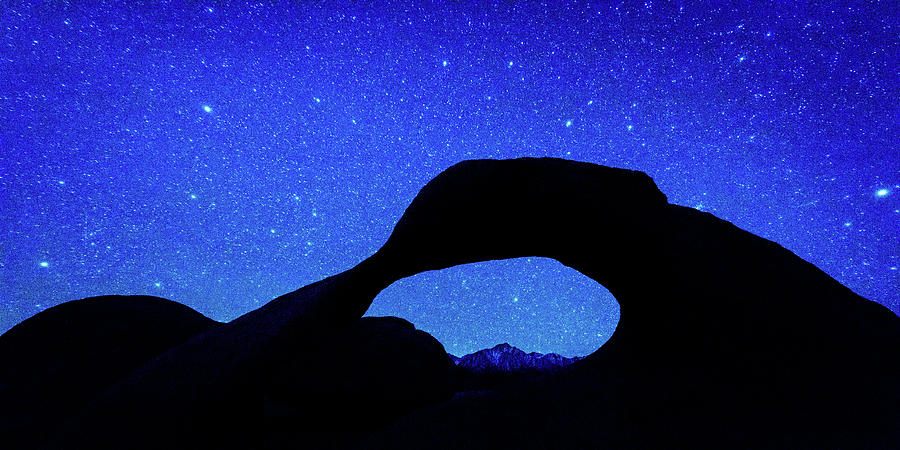 Horizontal Photograph - Starry Arch At Mobius Arch, Alabama by Panoramic Images