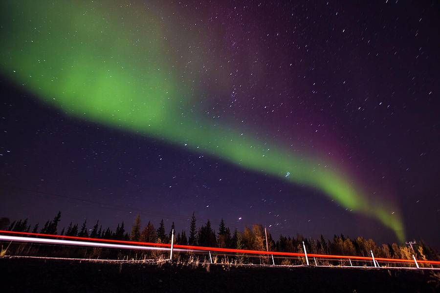Starry Aurora Borealis Photograph by © Copyright 2011 Sharleen Chao