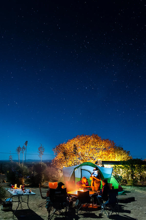 Big Bend Photograph - Starry Camp Fire by Sean Wray