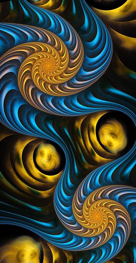 Starry Digital Art - Starry Night - Fractal Art by Anastasiya Malakhova