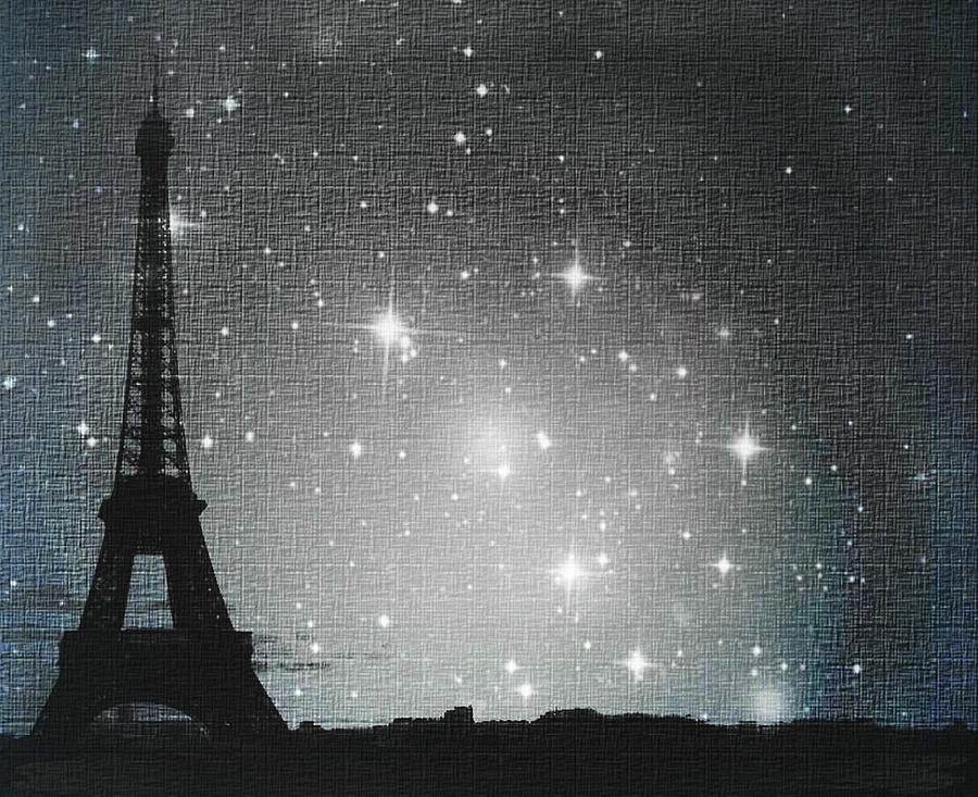 Starry Night In Paris Eiffel Tower Photography