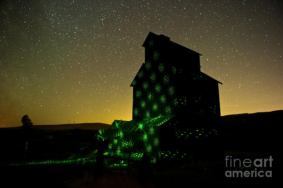 Milky Way Photograph - Starry Night Light Painting. by Jackie Follett