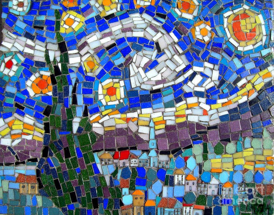 Starry Night Mosaic Photograph By Lou Ann Bagnall