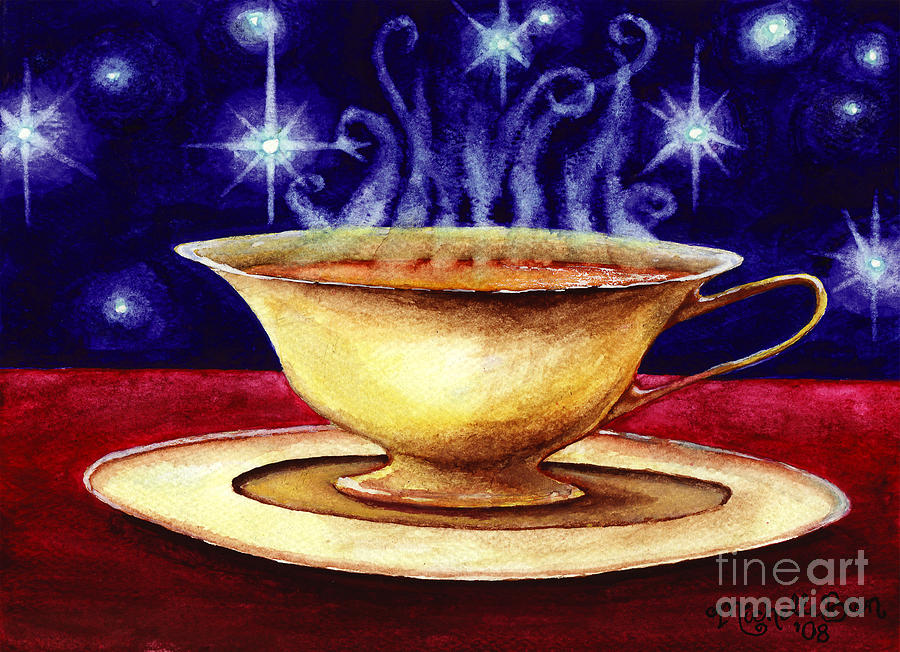 Starry Night Tea Service by Michelle Bien