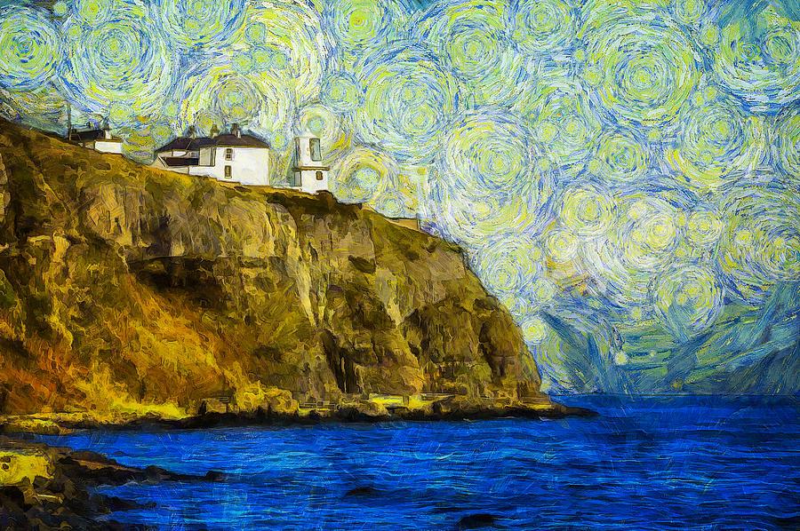 Starry Blackhead Lighthouse Photograph