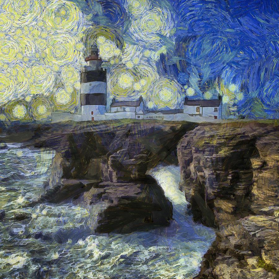 Starry Hook Head Lighthouse Photograph