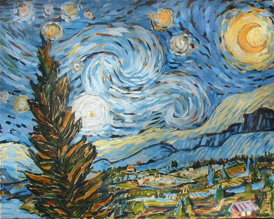 Nederland Painting - Starry Starry Ned by Al Hart