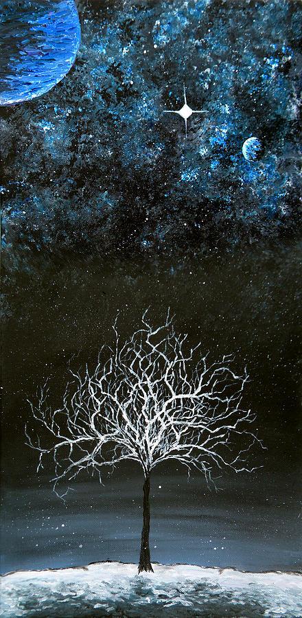 Stars And Snow Painting by Sabrina Zbasnik