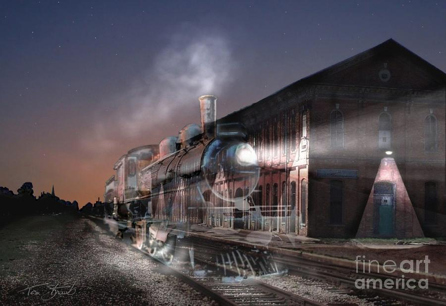 Train Photograph - Stars And Station 2010 by Tom Straub