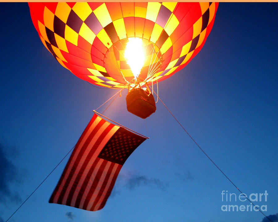 Hot Air Balloons Photograph - Stars And Stripes Glow by Paul Anderson