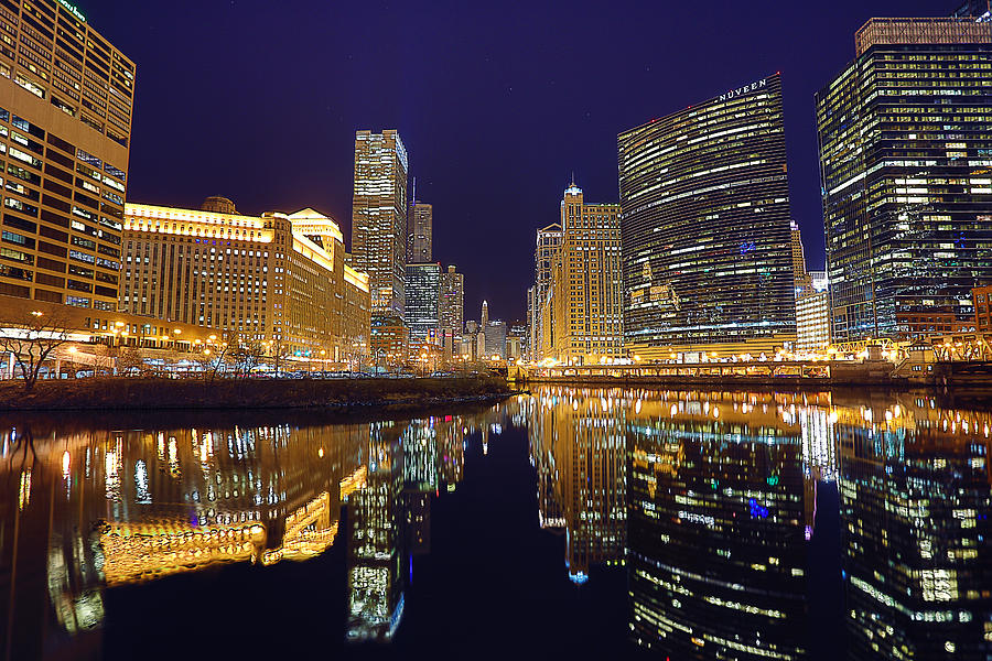 Chicago Photograph - Stars Over Chicago by Nicholas Johnson