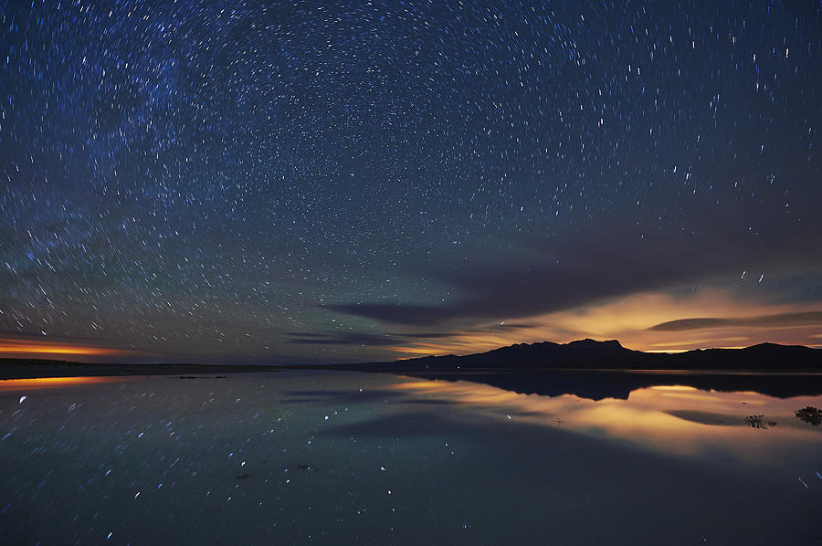 Stars Reflecting In A Salt Flat Lake Photograph By Andrew