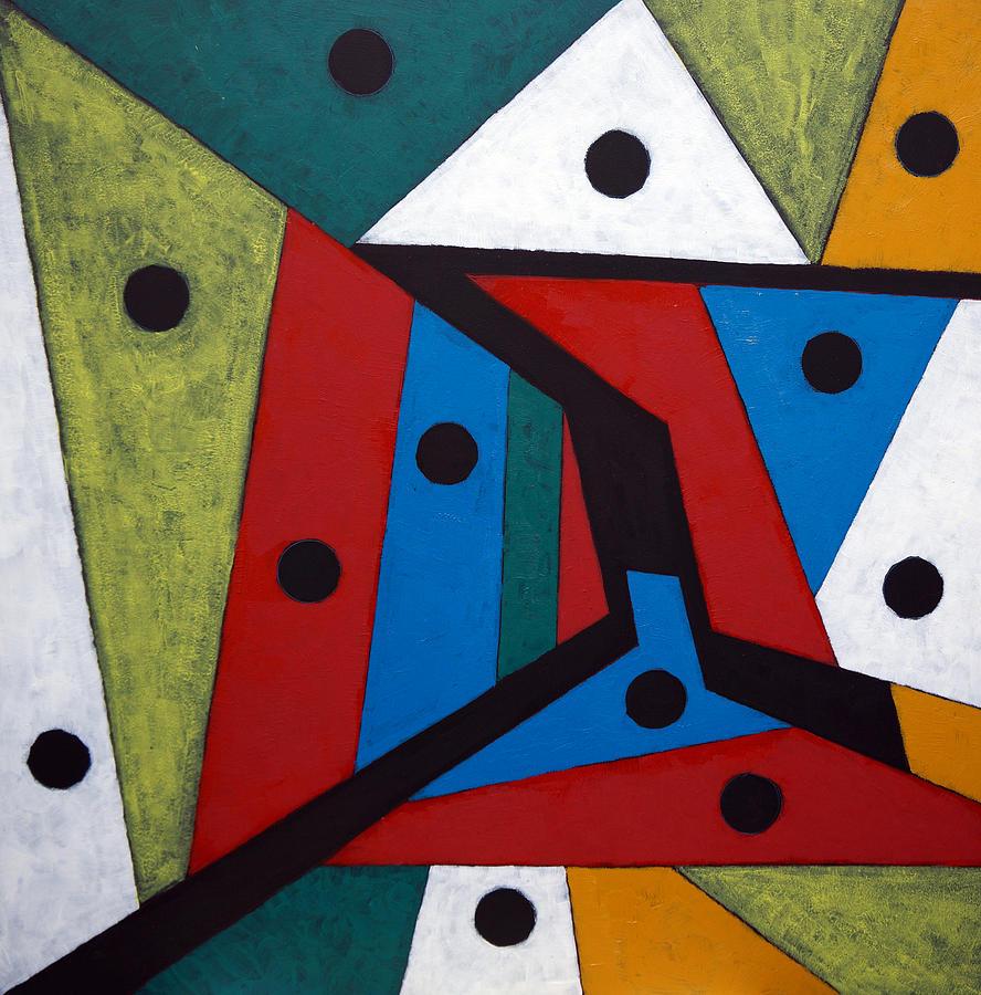 Acrylic Painting - Stars by Sergey Bezhinets