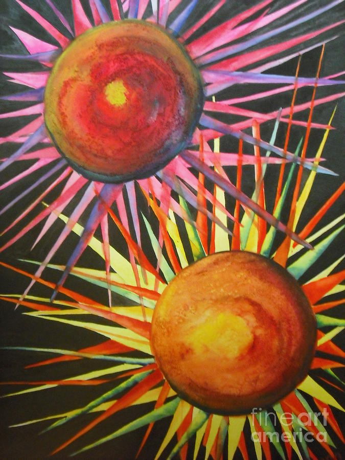 Fine Art Painting Painting - Stars With Colors by Chrisann Ellis