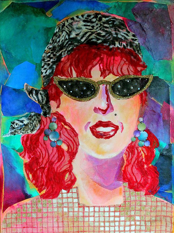 Portrait Mixed Media - Starstruck by Diane Fine