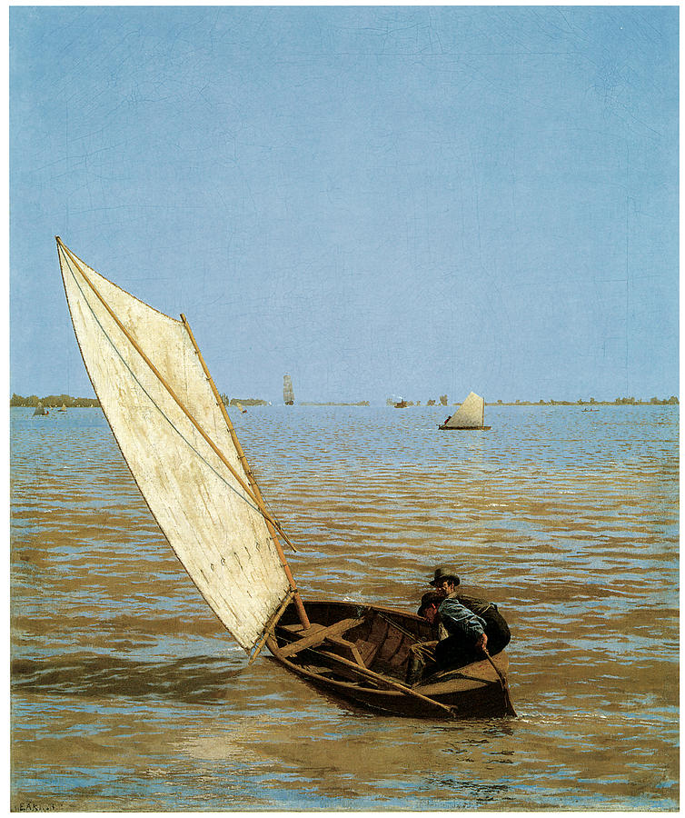 Thomas Eakins Painting - Starting Out After Rail by Thomas Eakins