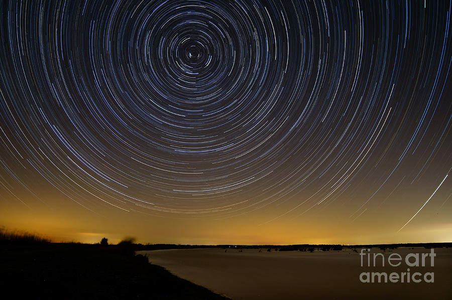 Deal Island Photograph - Startrails 3 by Benjamin Reed