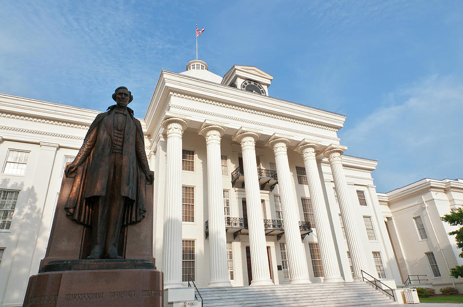 State Capitol Building With Statue Of Photograph by Stephen Saks