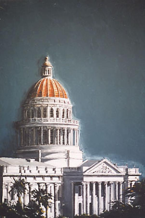 Sacramento Painting - State Capitol by Paul Guyer