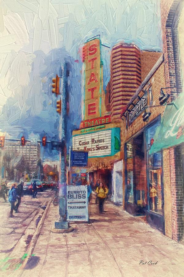 City Photograph - State Street Impasto by Pat Cook
