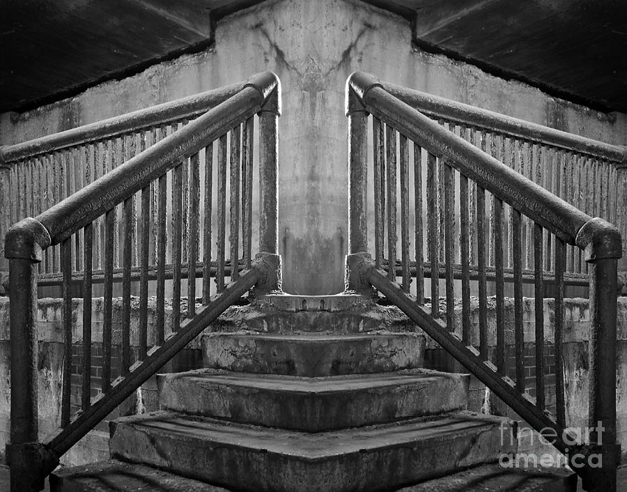 Lower Wacker Photograph - State Street Stairs by Martin Konopacki