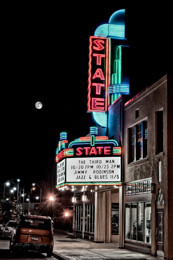 Hdr Photograph - State Theater by Jim Thompson