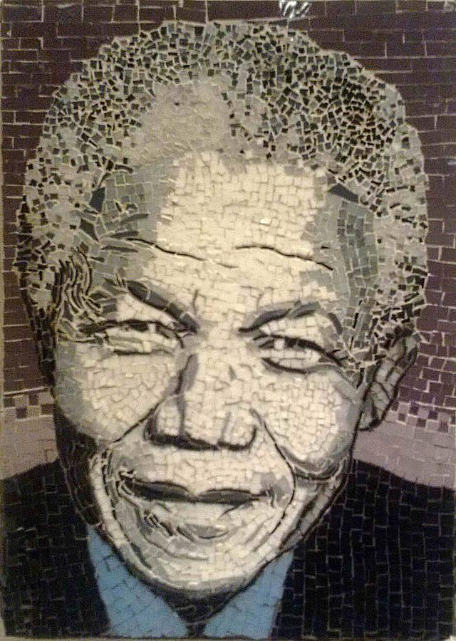 Nelson Mandela Statesman Mixed Media by Dalene Smit