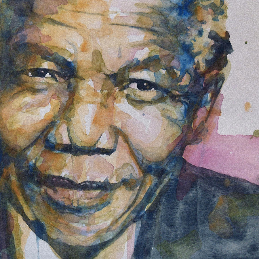 Nelson Mandela Painting - Statesman by Paul Lovering