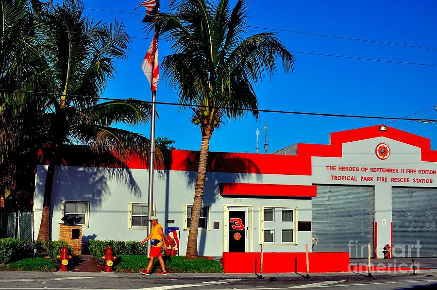 Fire Station Photograph - Station 3 by Andres LaBrada