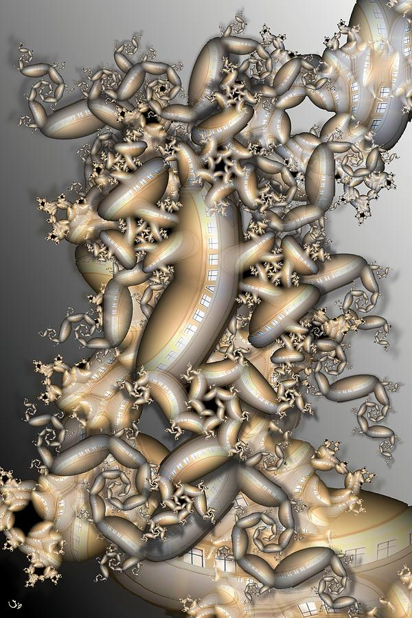 Abstract Digital Art - Station by Ron Bissett
