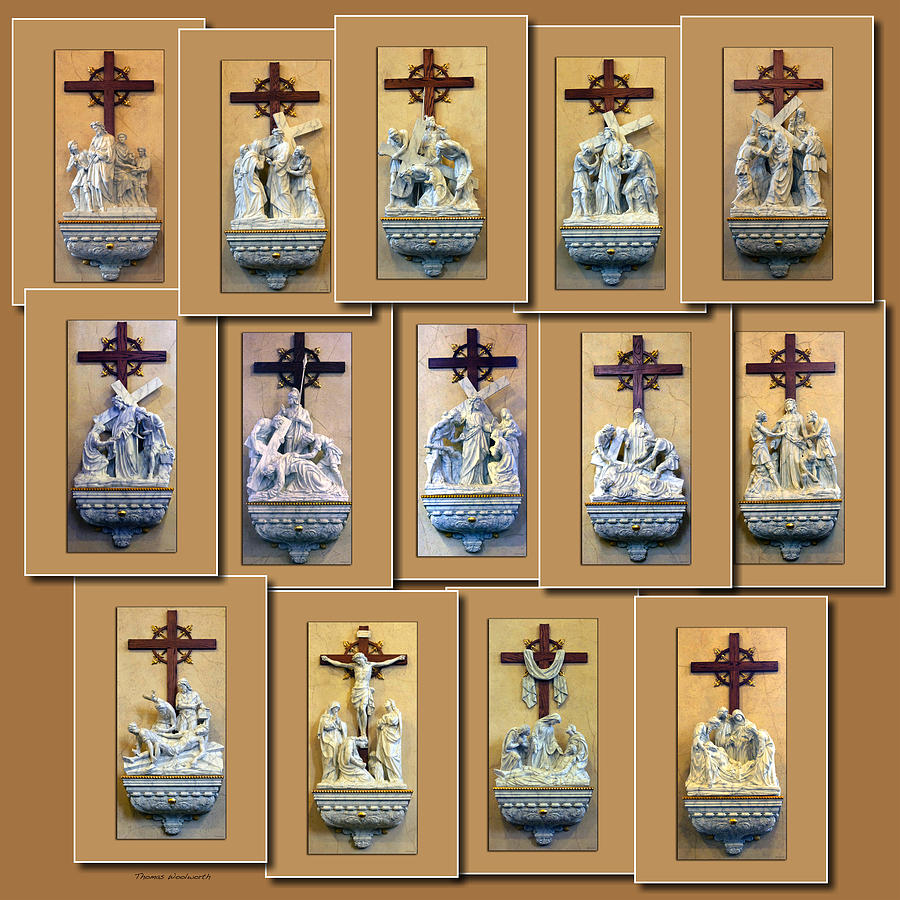 Il Photograph - Stations Of The Cross Collage by Thomas Woolworth