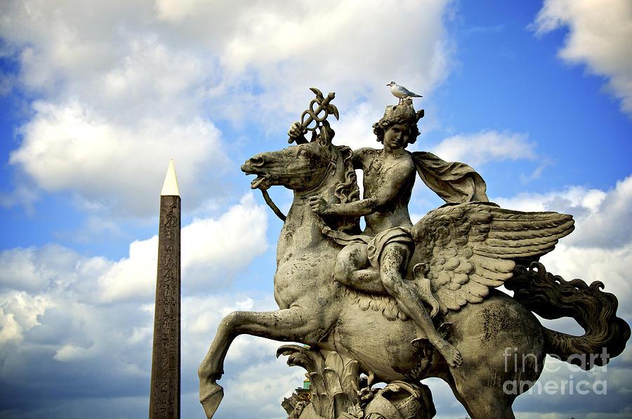 Paris Photograph - Statue . Place De La Concorde. Paris. France by Bernard Jaubert