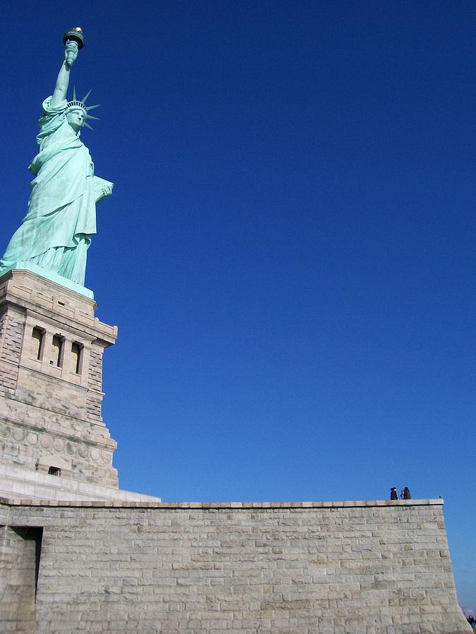 Statue Of Liberty Photograph - Statue And Sky by Katie Beougher