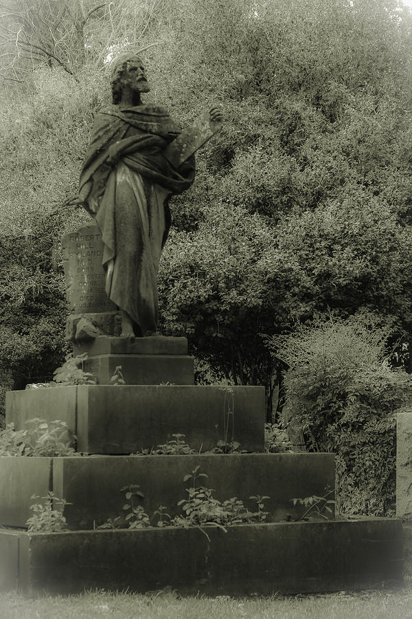 Cemetery Photograph - Statue by Jennifer Burley