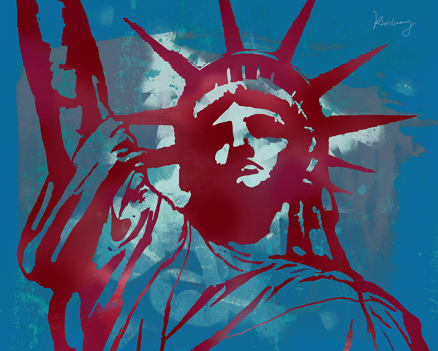 The Statue Of Liberty Is Open! Visitors Can Go Into The Pedestal Museum Drawing - Statue Liberty - Pop Stylised Art Poster by Kim Wang