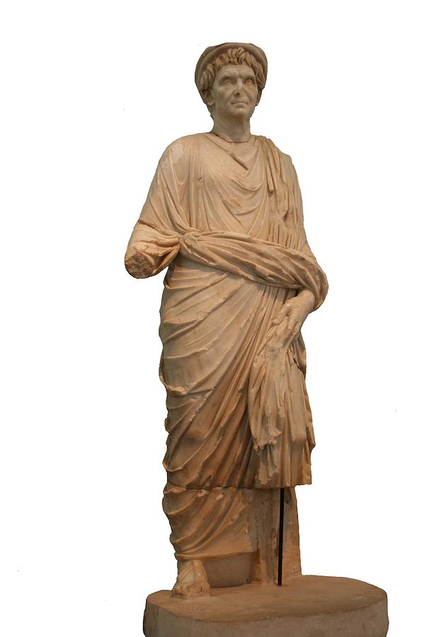 Aphrodisias Photograph - Statue Of A Roman Priest Wearing A Toga by Tracey Harrington-Simpson