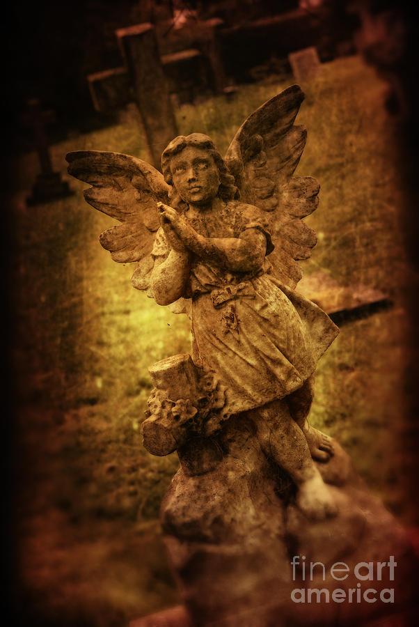 Angel Photograph - Statue Of Angel by Amanda Elwell